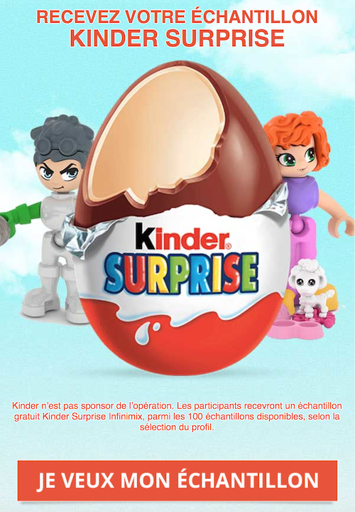 (Food) On peut gagner des Kinder Surprise